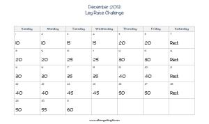 December Leg Raises
