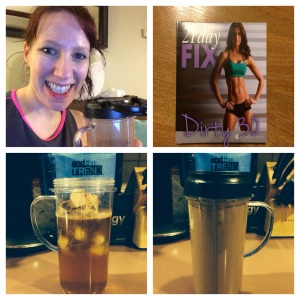 Shakeology and workout DONE!