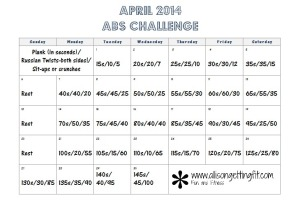 April Abs Challenge