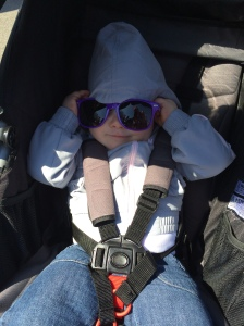 With her Moms in Training sunglasses!
