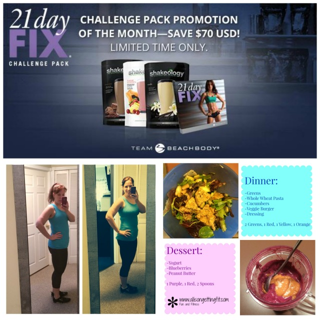 21 Day Fix Sept Collage