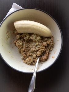 Steel Cut oats with Hemp Hearts, almond butter and 1/2 a banana