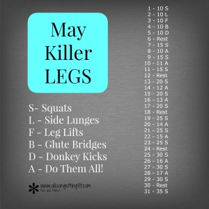 legs challenge, monthly challenge, workout at home