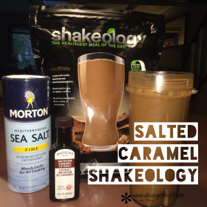 shakeology recipe, salted caramel