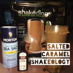 shakeology recipe, salted caramel