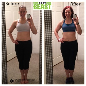 Body Beast results, home workout results