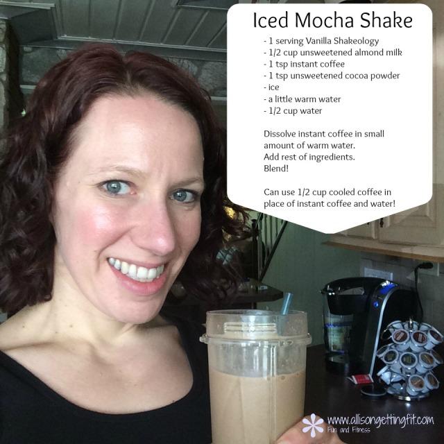 iced mocha, vanilla shakeology
