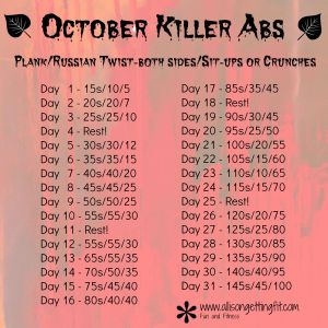 October Killer Abs