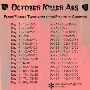 October Killer Abs