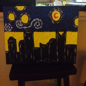 Starry Night Over Neon Charlotte